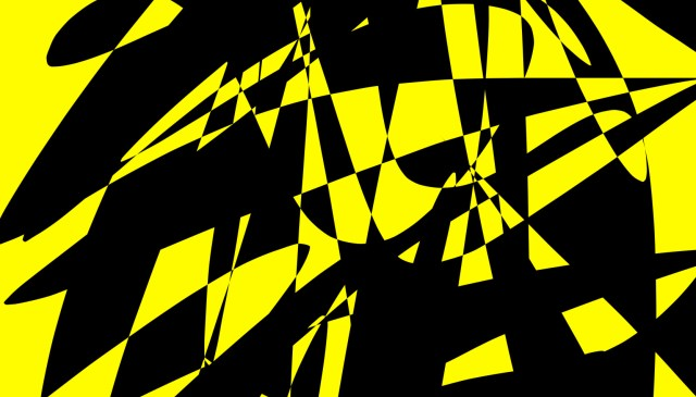 yellow black abstract ERIC KIM