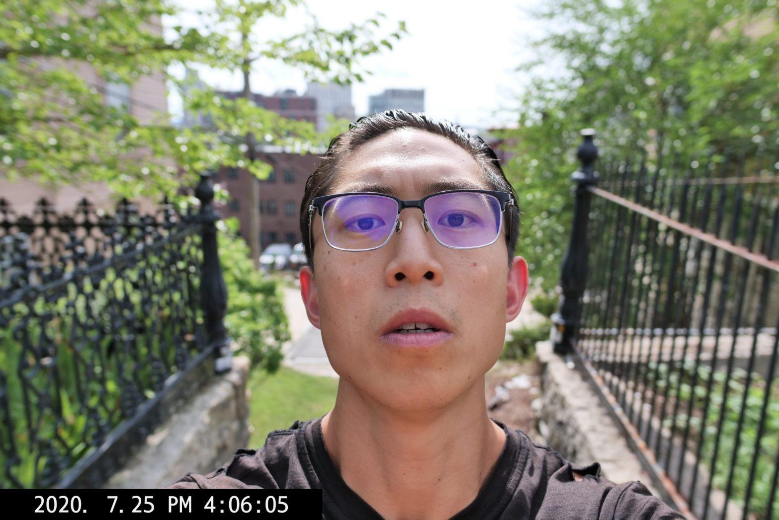 selfie ERIC KIM face leading lines