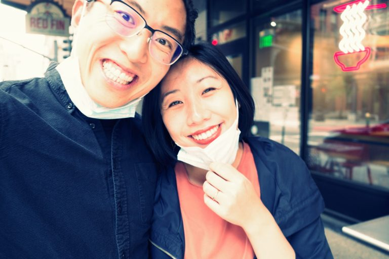 selfie ERIC KIM and cindy
