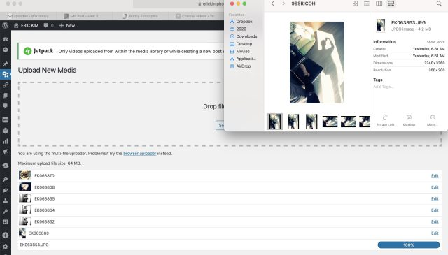 Mac OS gallery view
