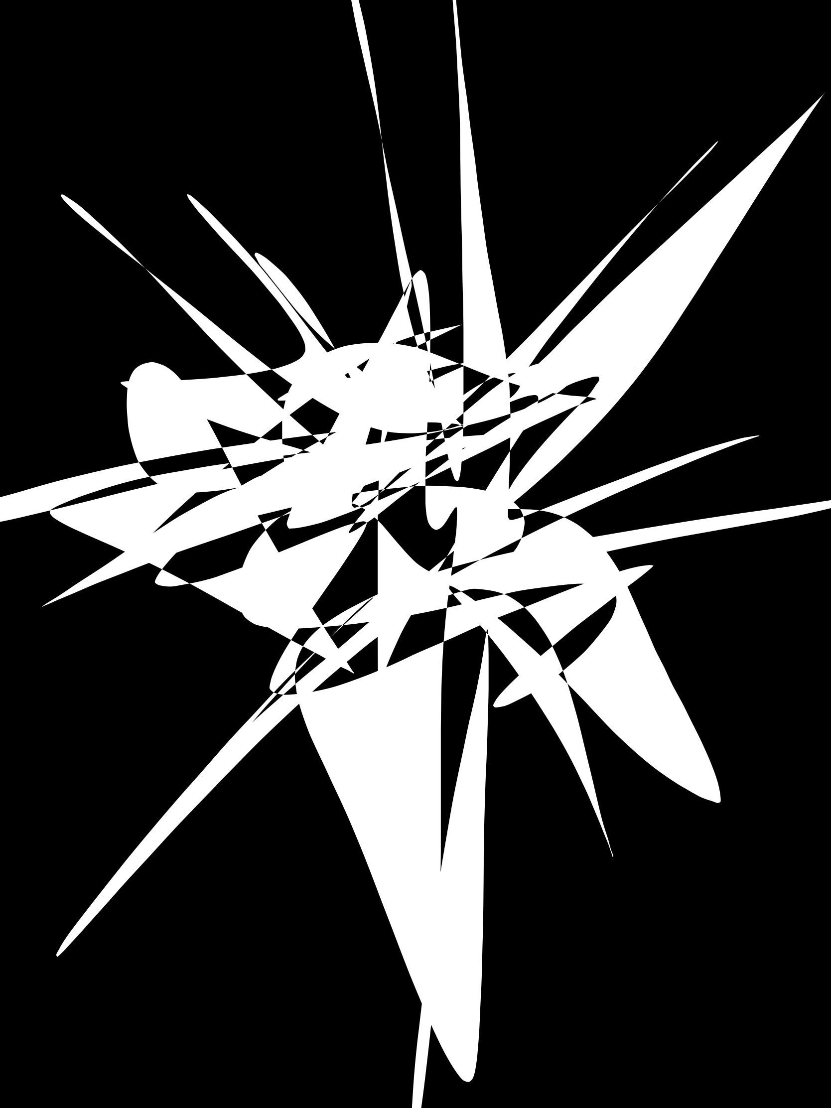 black white abstract explosion ERIC KIM