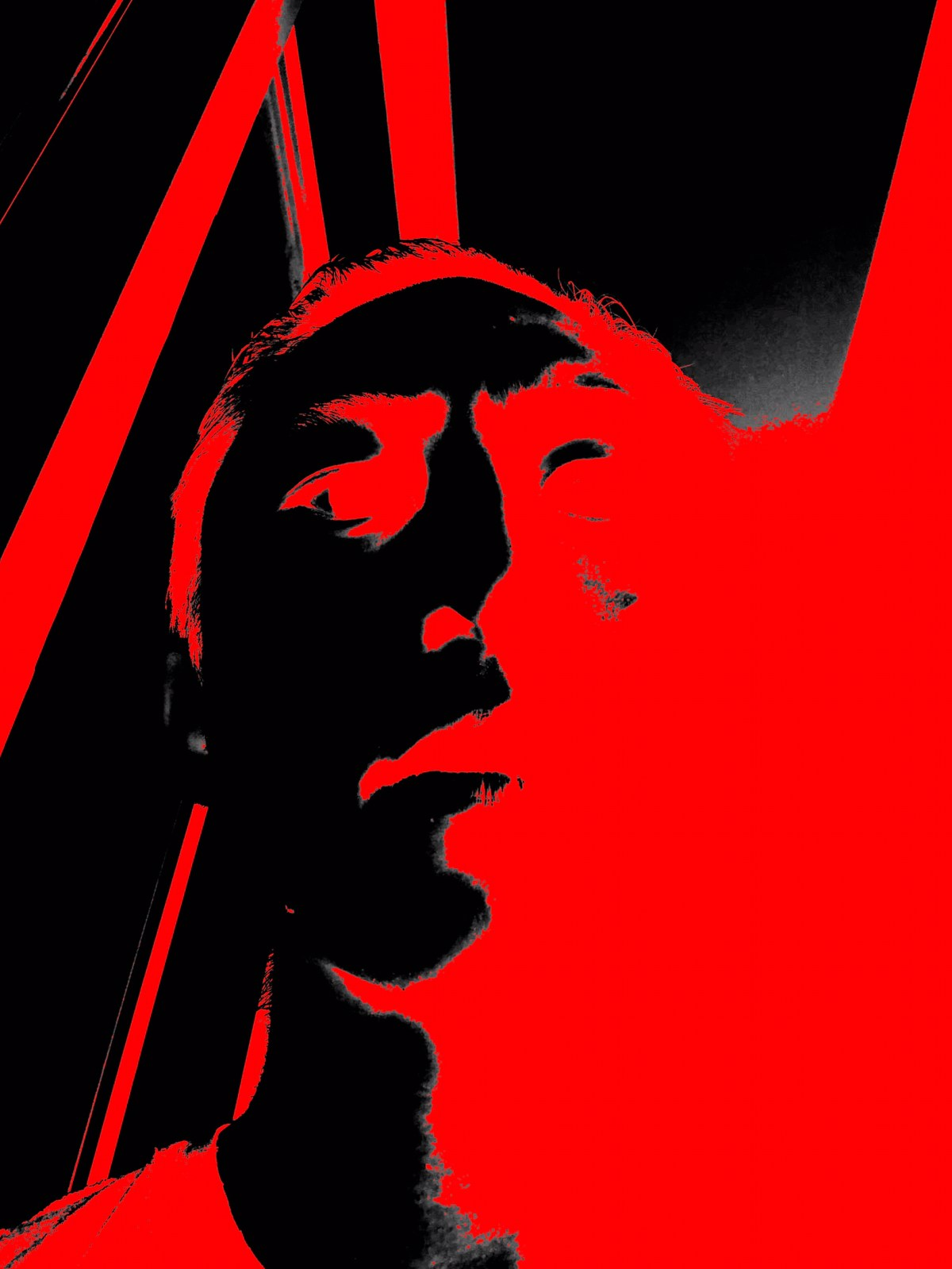 red black selfie ERIC KIM