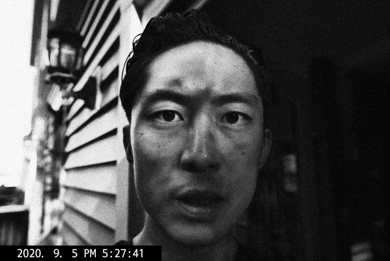 selfie black and white shadow ERIC KIM