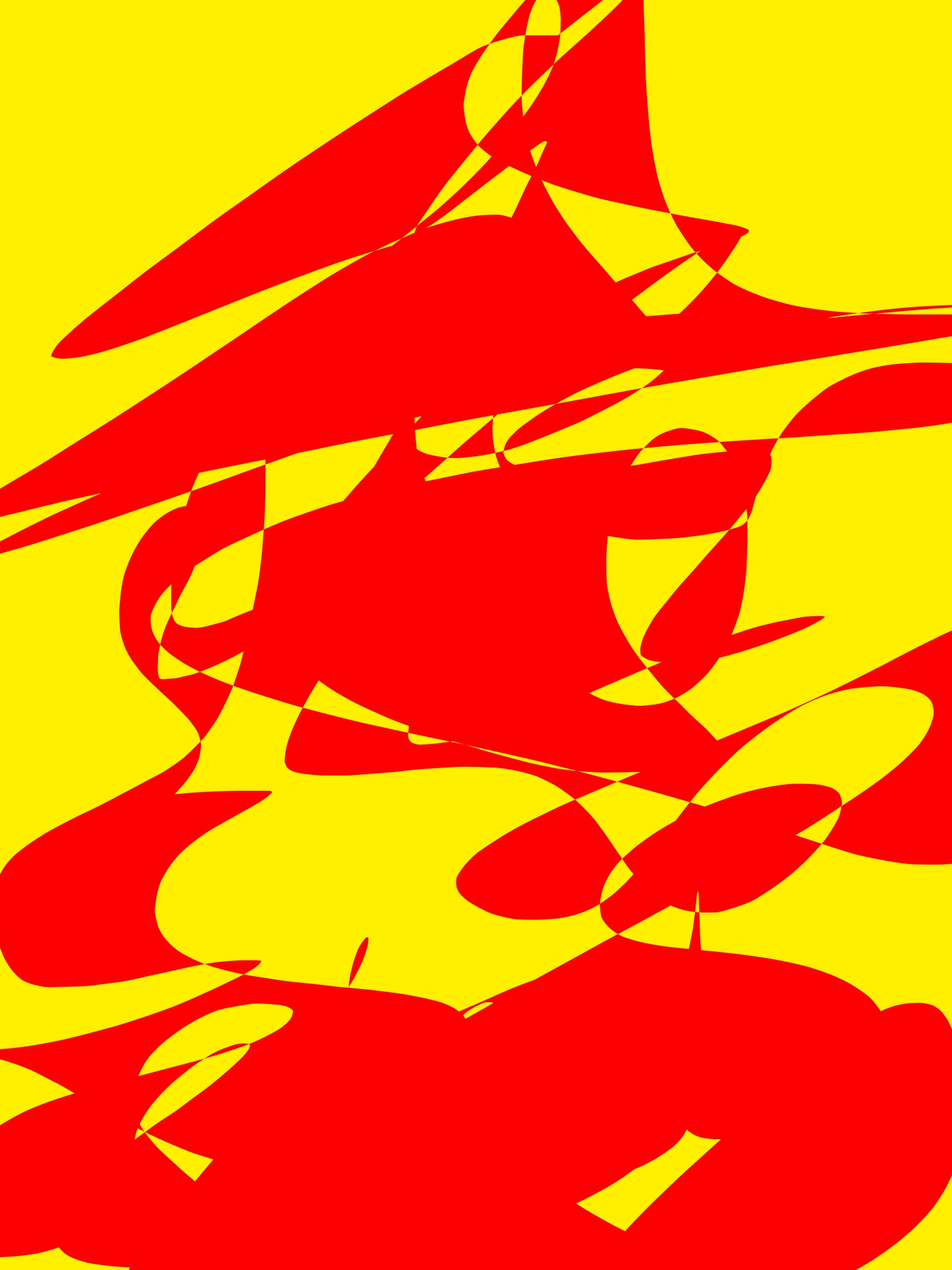 Red yellow abstract ERIC KIM