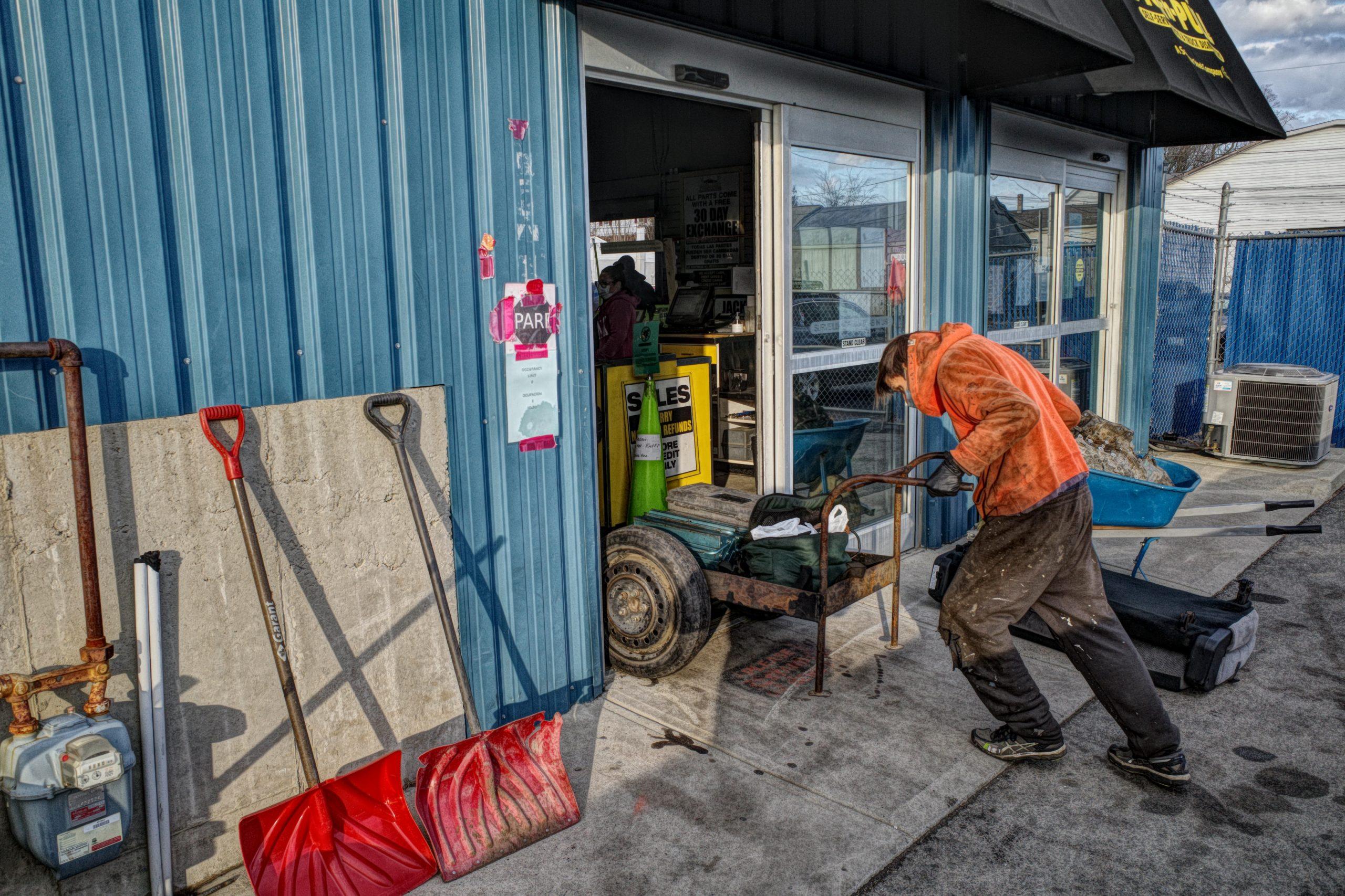 HDR junkyard photography street