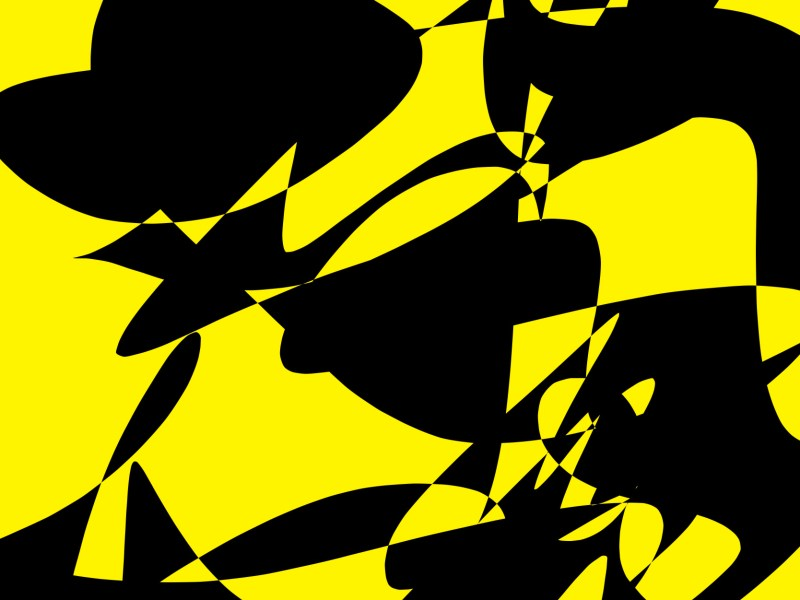 black yellow abstract