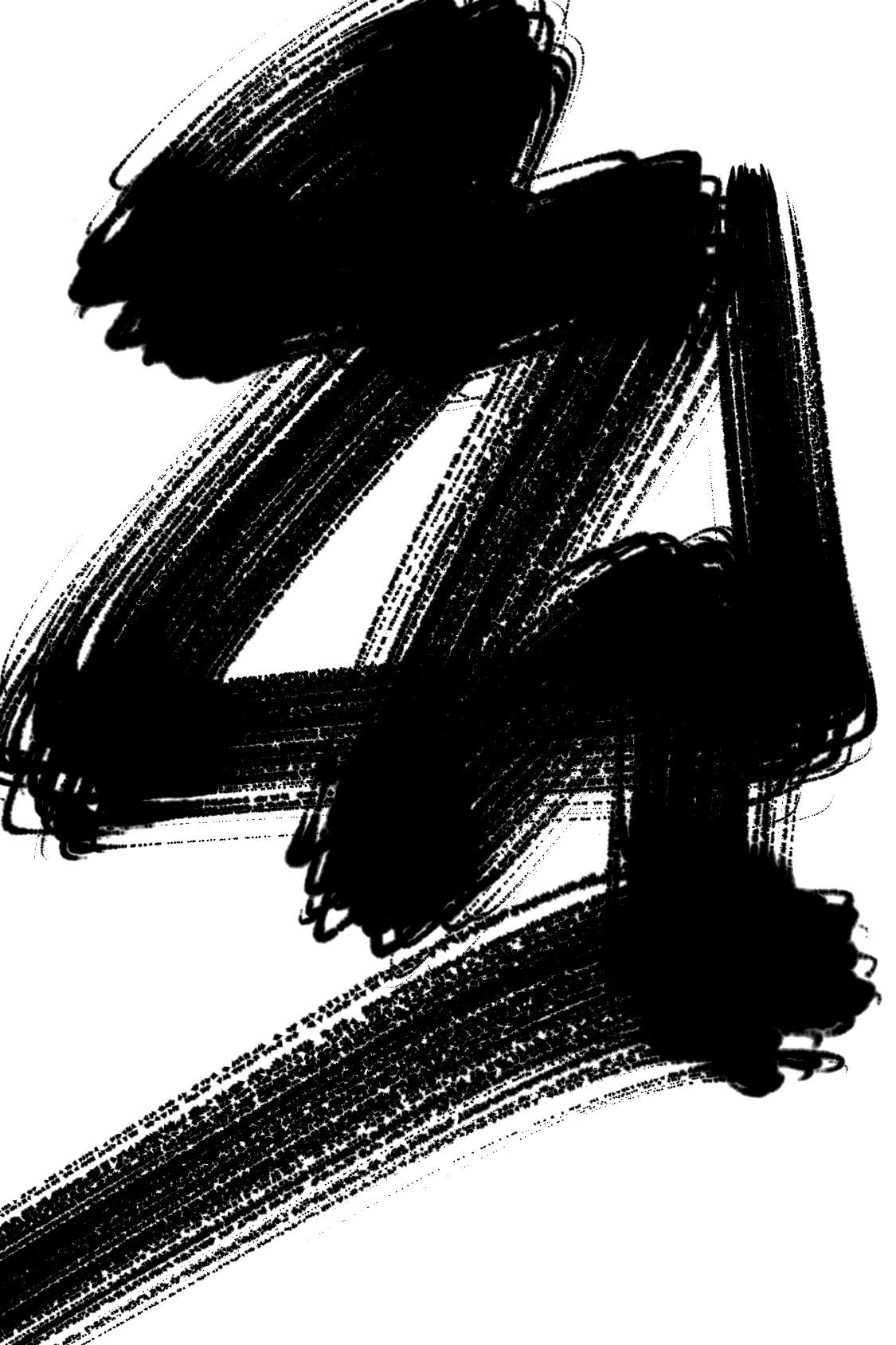 abstract zen brush calligraphy