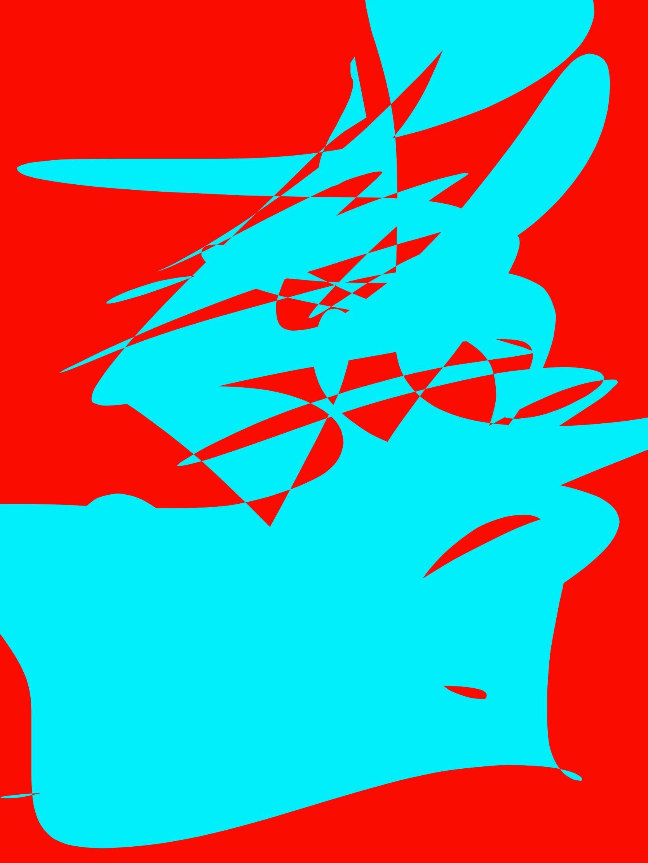 red cyan abstract ERIC KIM