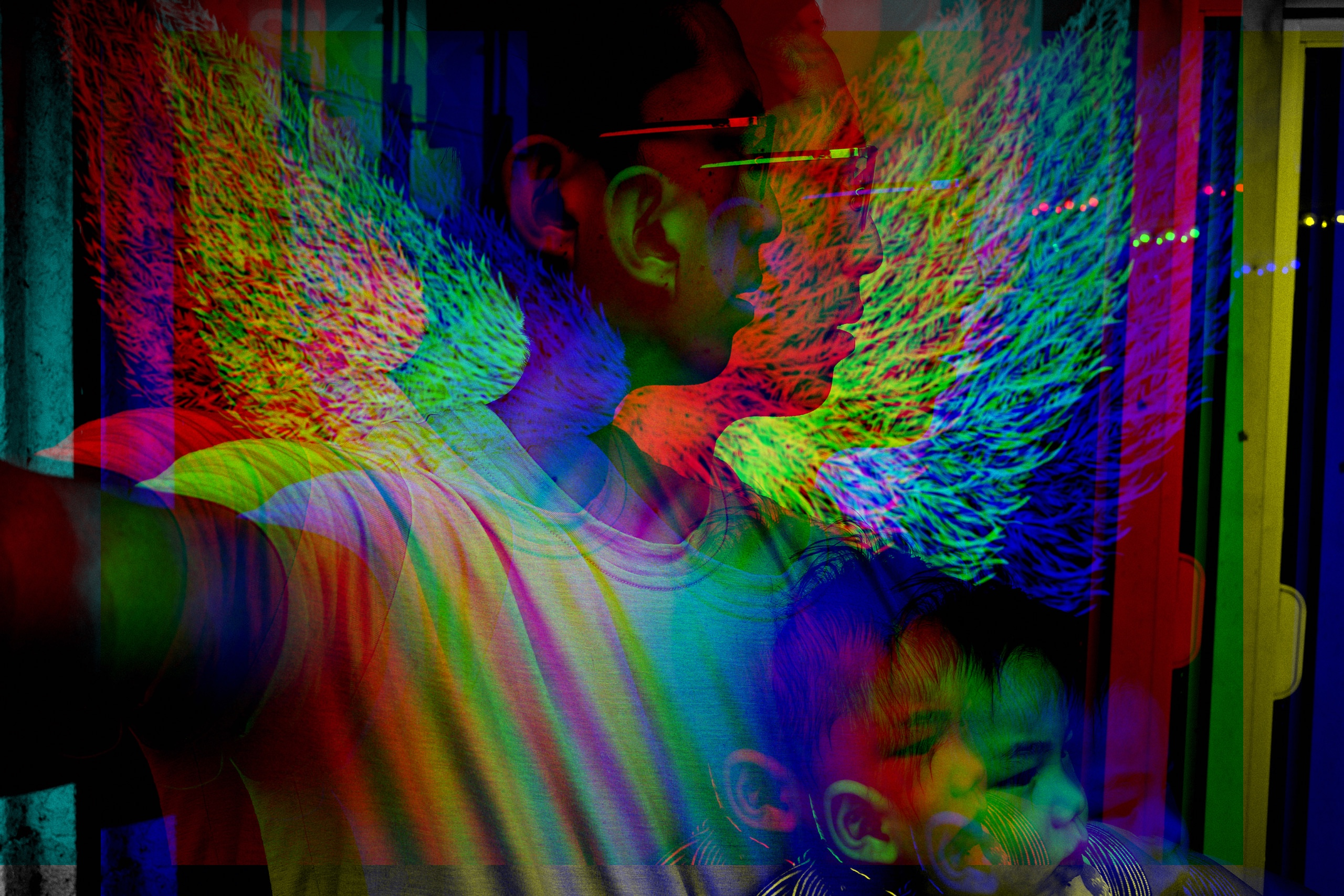 chromatic abbreviation glitch ERIC KIM selfie