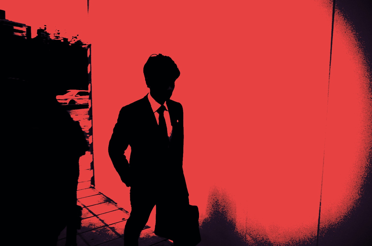 red crimson dark skies