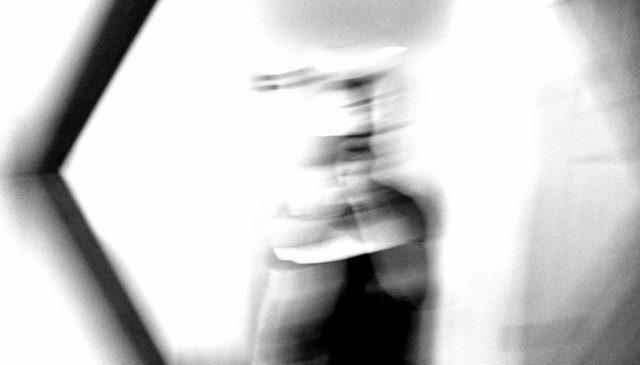 selfie ERIC KIM black and white blur seneca