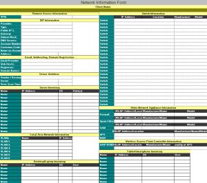 Network Information Form