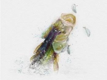 Watercolor snook painting art print gift