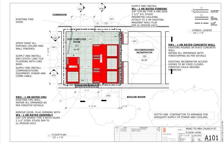 Server room plan.