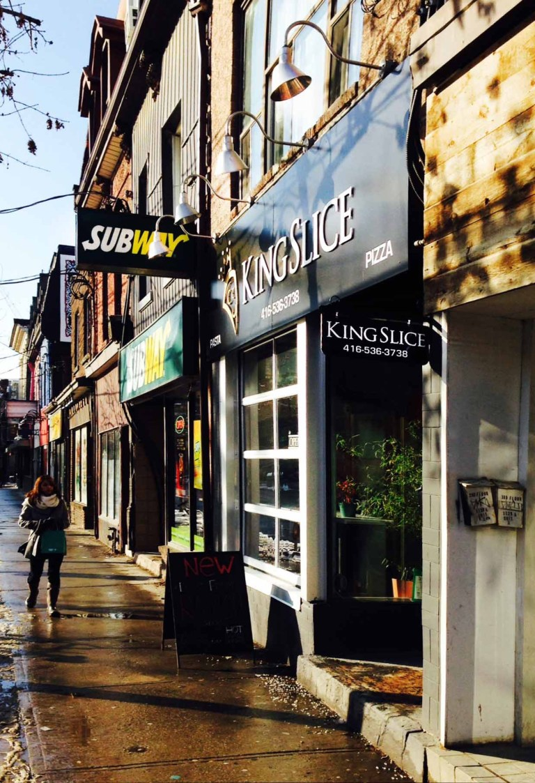 King Slice pizza street view.