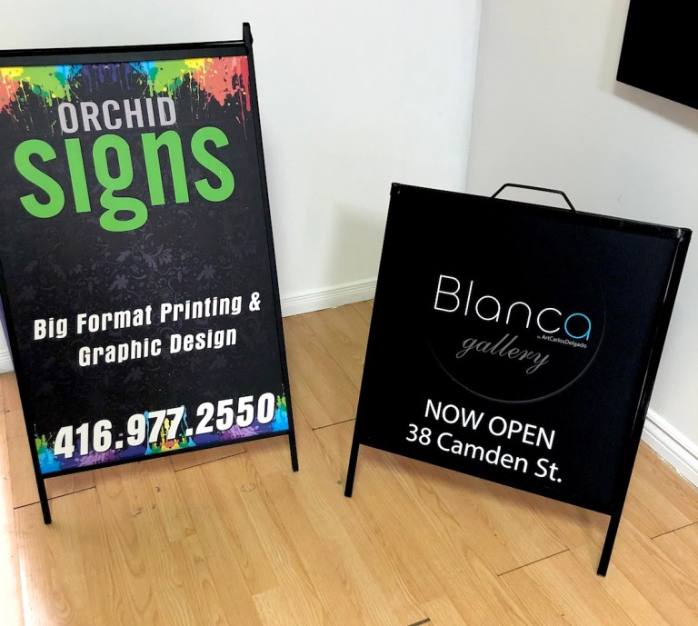 Sidewalk A-frame sign big and small sizes