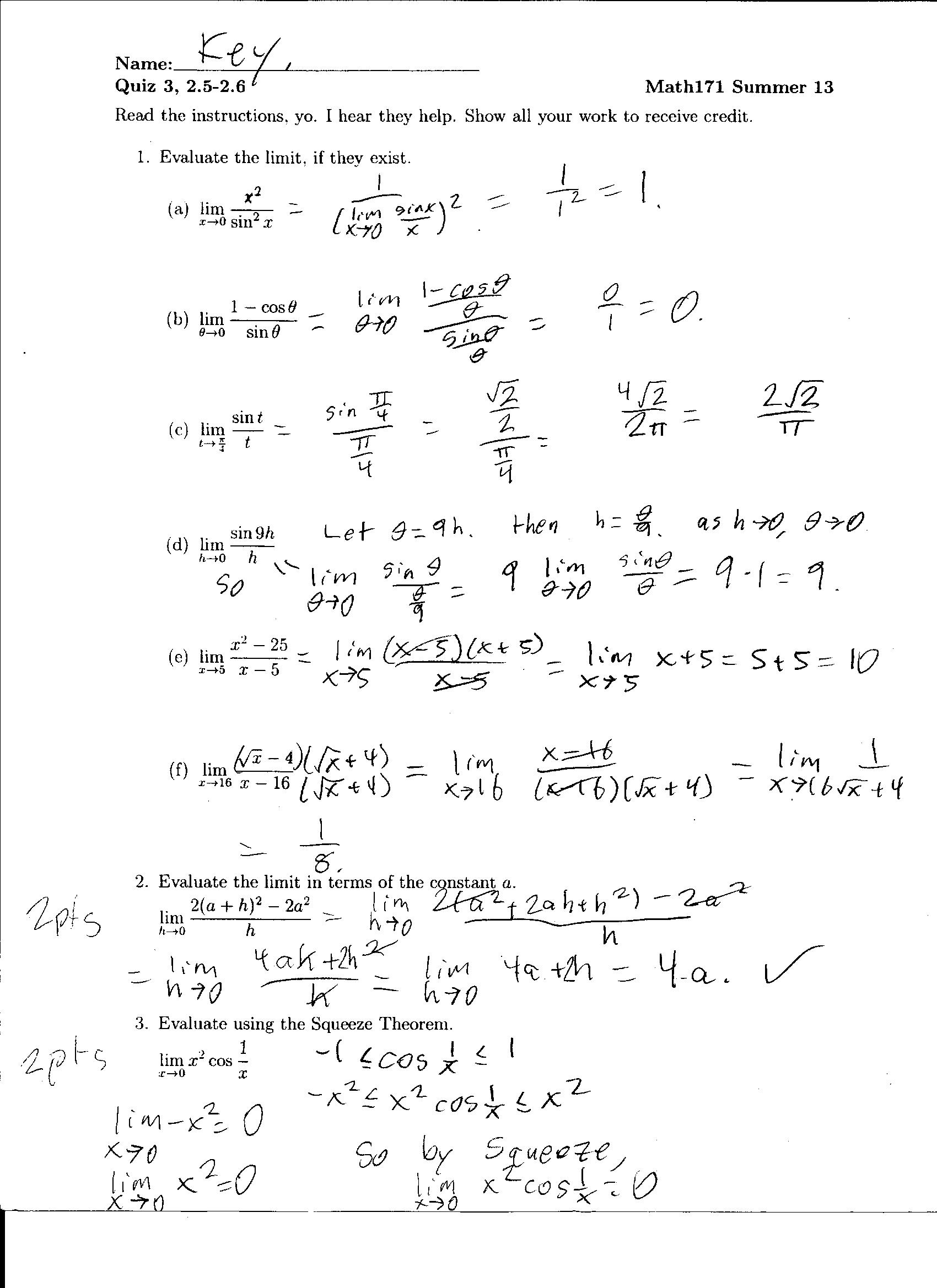 Quiz 1 4 Solutions