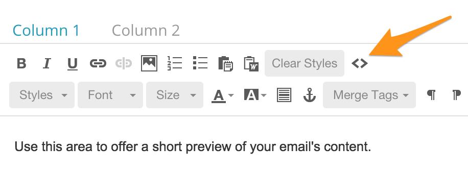 Mailchimp Code Button