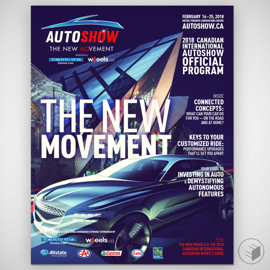 CANADIAN INTERNATIONAL AUTOSHOW 2018 OFFICIAL PROGRAM COVER