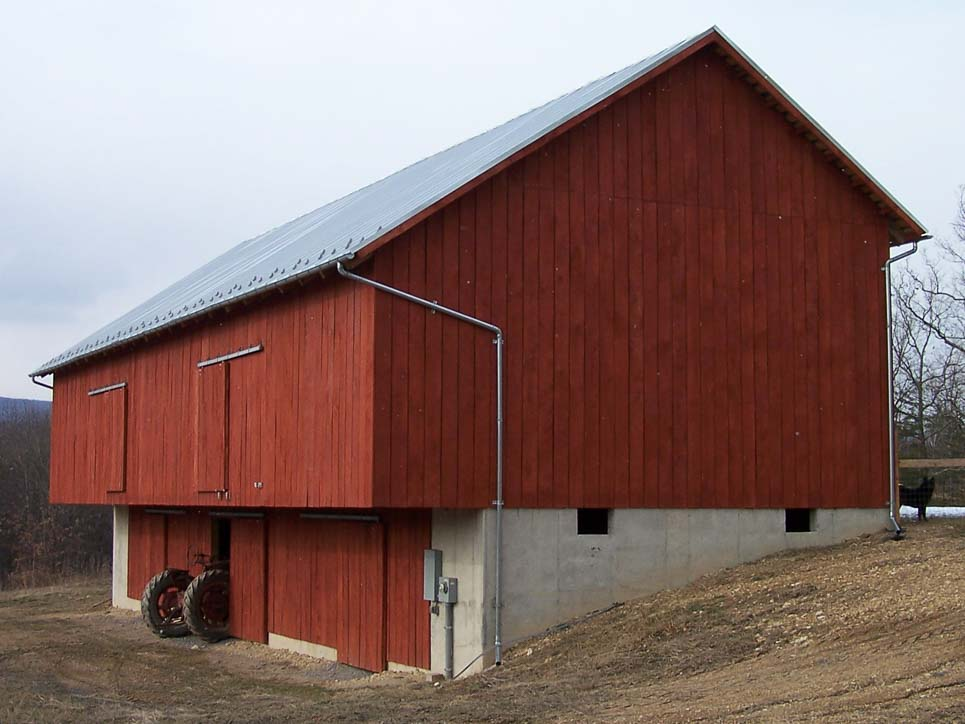completed barn timber frame