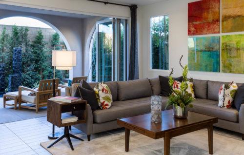 Real Estate Marketing Photography Modern Living Room Orange County California