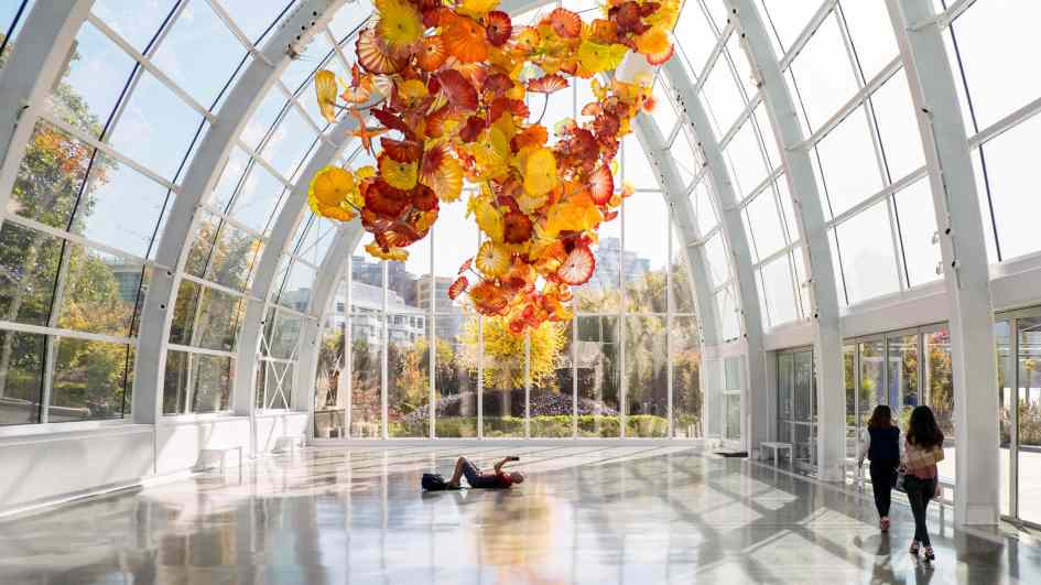 Chihuly Garden and Glass Museum Greenhouse Interior Architectural Photography Owen Richards Architects