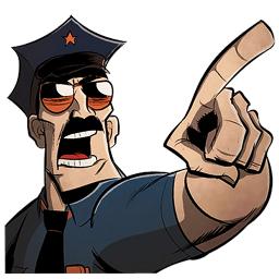 belligerent cop