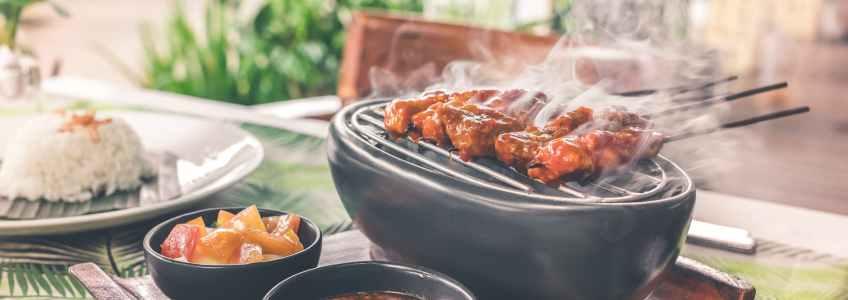 Goutez au chevreau au barbecue