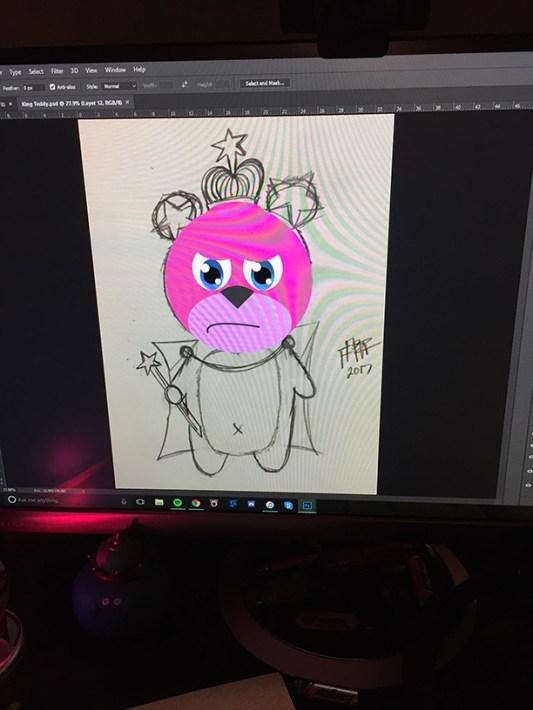 king-teddy-sketch-wip