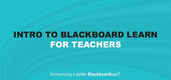 Introduction to Blackboard for Teachers