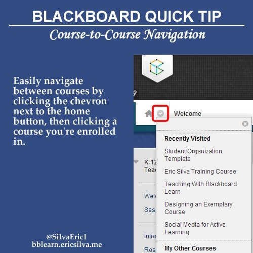 Easily navigate between courses by clicking the chevron next to the home button, then clicking a course you're enrolled in.