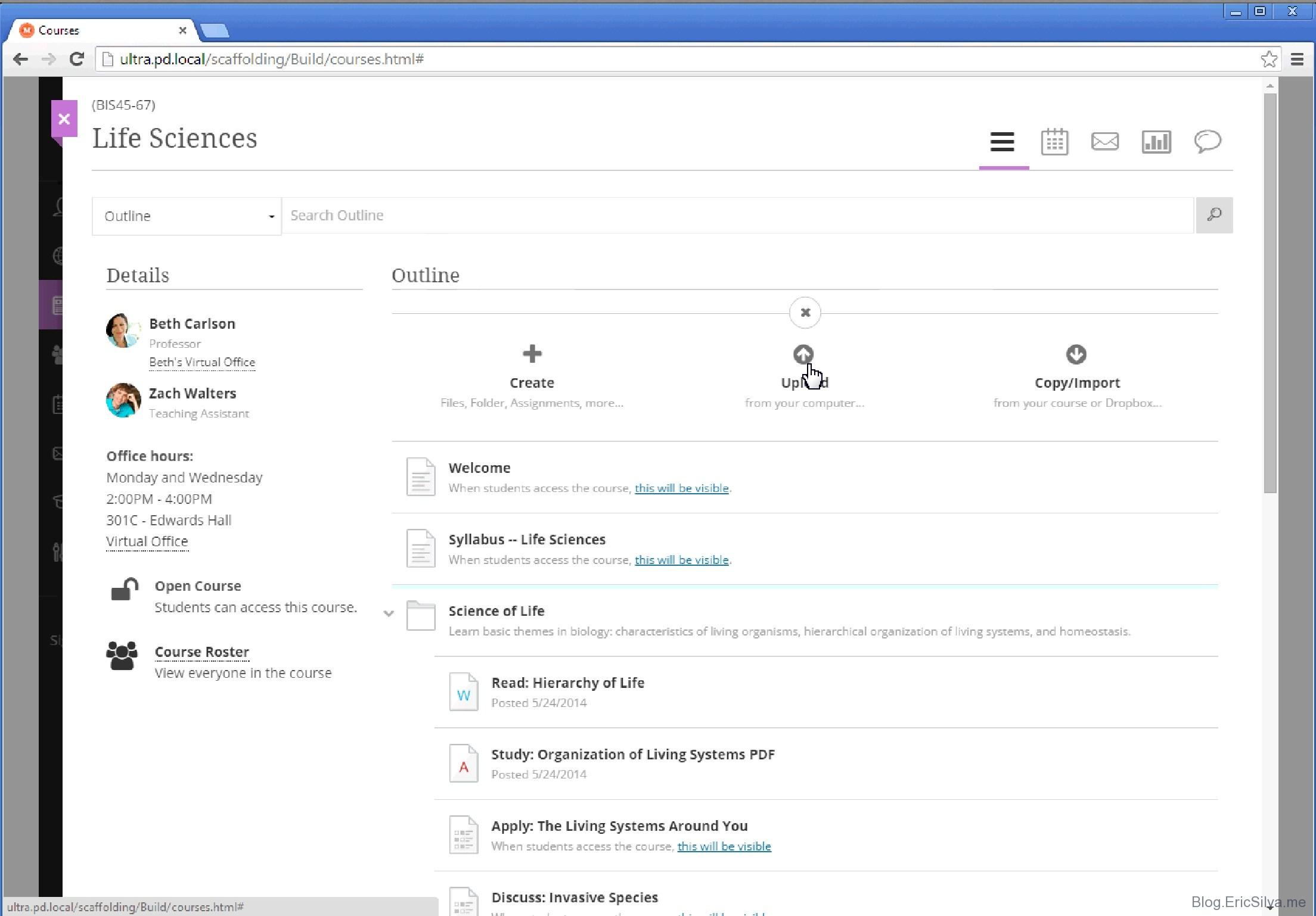 Screenshots the new blackboard learn ultra collaborate user instructor robcynllc Gallery