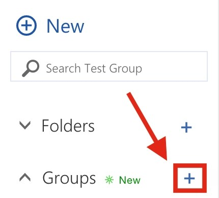 Outlook Web App Sidebar with Create Group plus icon highlighted.