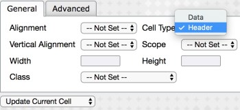 Table Cell Properties Screenshot
