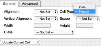 Table Cell Properties Screenshot