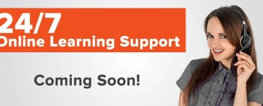 Advertisement announcing the launch of 24/7 Online Learning Support.