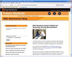 OSU Admissions blog