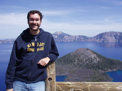 Eric Stoller at Crater Lake, Oregon