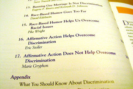 Issues that Concern You - Discrimination - Table of Contents