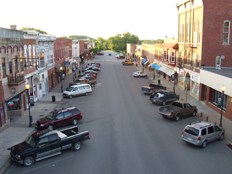 Downtown Columbus Junction Iowa in 2008