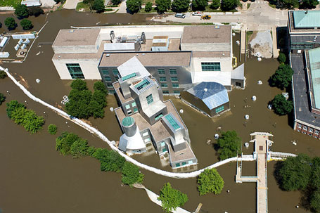 Iowa Advanced Technology Laboratories (IATL) flooded at the University of Iowa in 2008