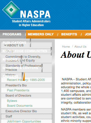 NASPAs new website does not work on Firefox 3 on a Mac
