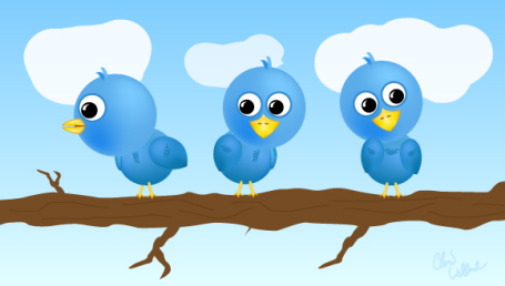 Twitter birds by Chris Wallace