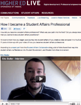 How I became a Student Affairs Professional
