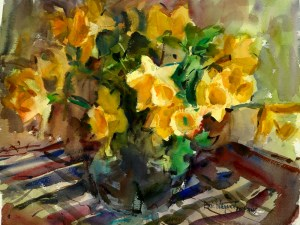 Daffodils, Giclee print by Eric Wiegardt AWS-DF, NWS