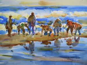 Clamdiggers, Giclee print by Eric Wiegardt AWS-DF, NWS