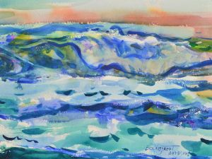 3970 Pacific Power, original watercolor painting by Eric Wiegardt AWS-DF, NWS0 Pacific Power