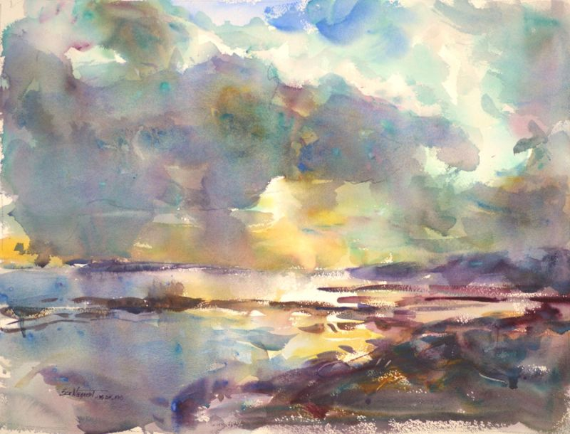 4340 Moment of Brilliance, original watercolor painting by Eric Wiegardt AWS-DF, NWS