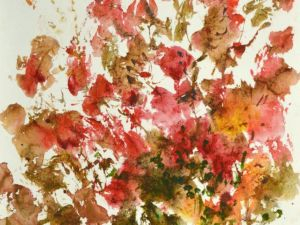 4044 Wild Roses, original watercolor painting by Eric Wiegardt AWS-DF, NWS