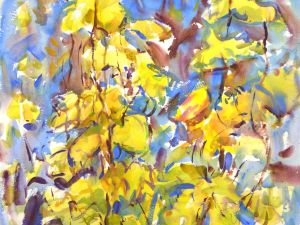 4356 Hops, original watercolor painting by Eric Wiegardt, AWS-DF, NWS